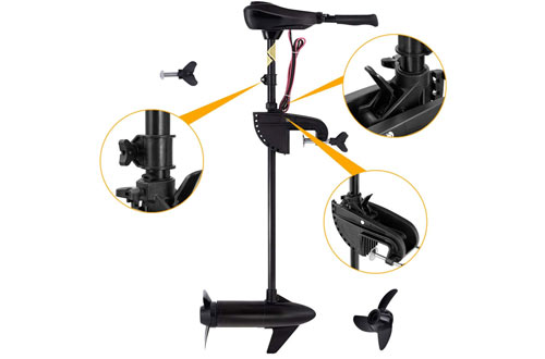 Goplus Mounted Electric Trolling Motor - 8 Speed