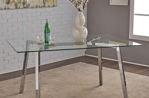 Verna Tempered Glass Dining Room Table