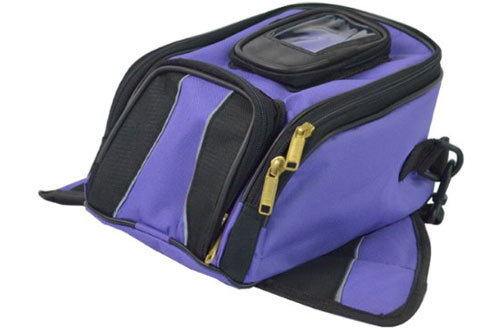 Small Magnetic Motorcycle Tank Bags with Cell Phone Pocket