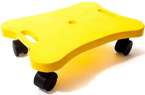 Educational Manual Plastic Scooter Board with Safety Handles