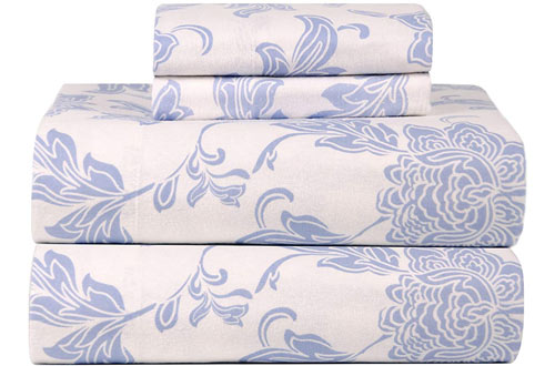 Celeste Home Ultrasoft Flannel Sheet Set with Pillowcases