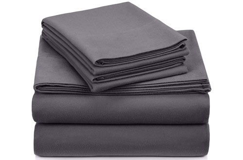 e7ba9ecd46e0 Pinzon Signature 190-Gram Cotton Heavyweight Velvet Flannel Sheet Set